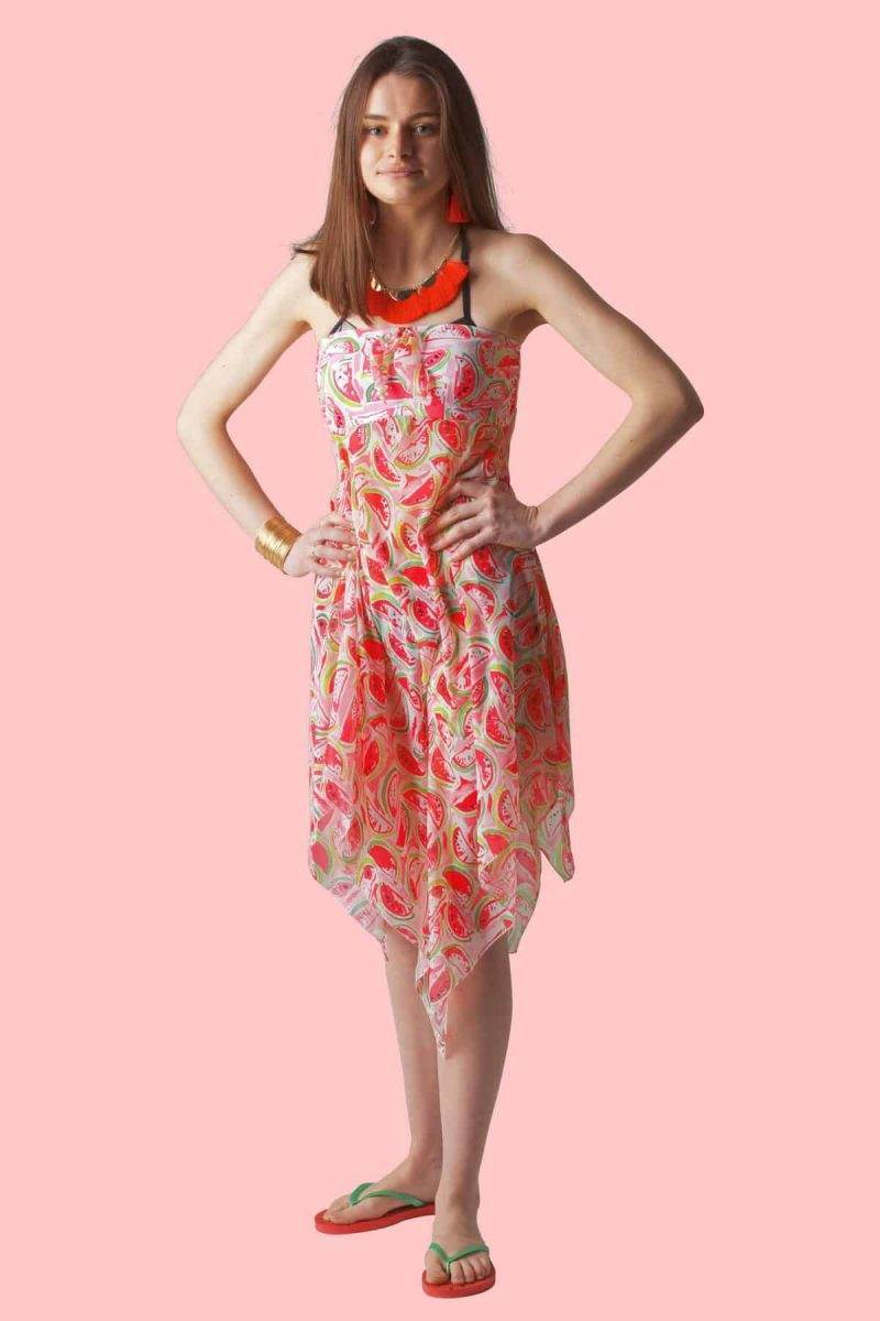 Watermelon Sophie Sarongs Beach cover-up dress