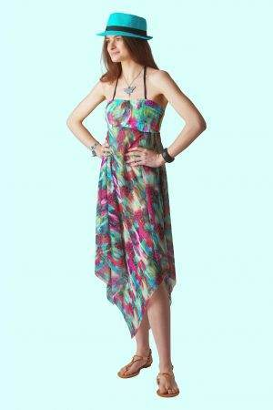 Purple sky Sophie Sarongs Beach cover-up dress