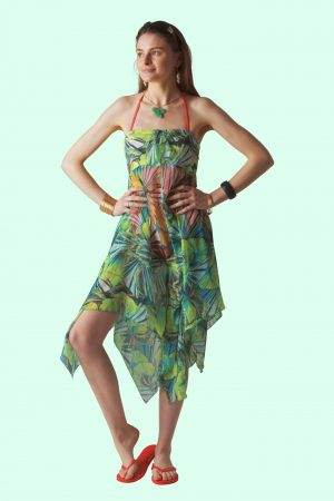Jungle Leaves Sophie Sarongs Swimwear and Bathing suit cover up