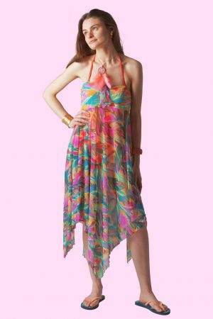 Oleander Sunset Sophie Sarongs Swimwear and Bathing suit cover up