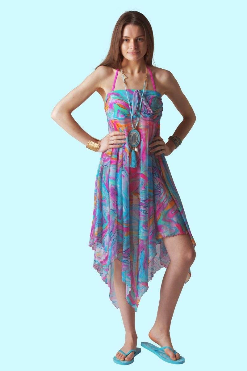 Monet Marble Sophie Sarongs Beachwear