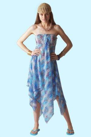 Blue Leopard Sophie Sarongs Swimwear and Bathing suit cover up