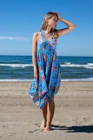 Turquoise Sea Halterneck